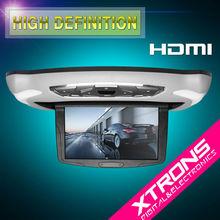 "CR103HD Beige: Xtrons 10.1"" Flip Down Car Audio Player with HDMI Port"