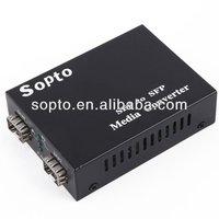 10/100/1000m SFP+40km simplex Media Converter