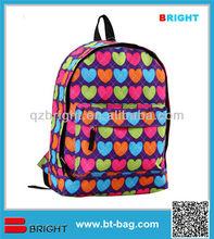 Heart print cheap school gift bags