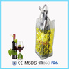 Reusable plastic gel wine bottle cooler/beer bottle cooler bag
