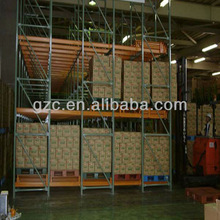 GZC-Push back racking system with wheels and rollers double or triple your storage