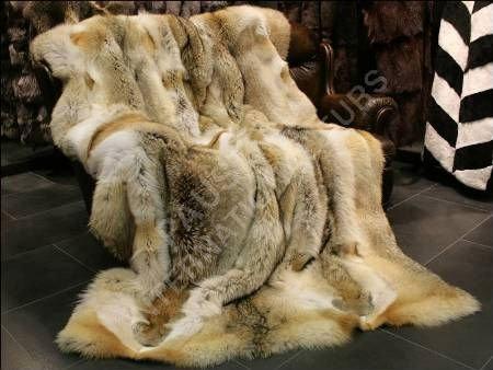 Mantas de Piel Natural 452 Coyote Piel Manta