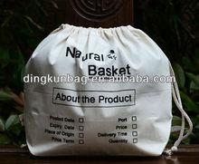 cheap cotton drawstring shoe bag