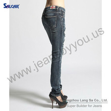 SALCAR women jeans manufacturers in delhi 2012 sex girl photos embroidery design on jeans and leather brand