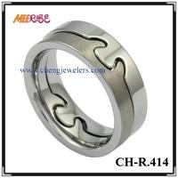 Comfort Fit bonne qualité de tungstène de naissance anneau pendentif