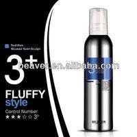 Heat defense high gloss hair mousse