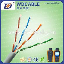 FLUKE test passed high quality cat5e UTP 24awg CCA network cable