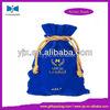 Wholesale Blue Lucky Velvet Pouch for Gift Packing