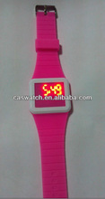 2014 fashion led touch screen watches cheap LED silicone watch for promotion multi-function LED digital watch