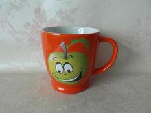 fashion orange glazed ceramic pottery mugs