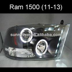 Dodge Ram 1500 LED Headlight Angel Eyes 2011-2013 SONAR Style