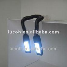 2012 battery new felixible double head twin beams LED flashlight