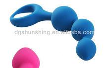 Soft silicone vibrating dildo