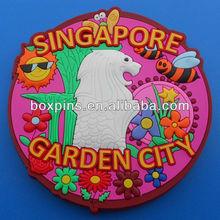 Singapore tourist fridge magnet custom 3d pvc travel souvenir fridge magnet