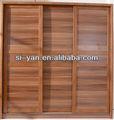 3 painel deslizante madeira deslizantes portas do armário