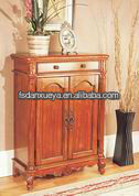 Antique color painting two-door home use shoe cabinet 9012#