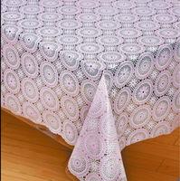 pvc lace pattern square table cloth banquet tablecloths for sale