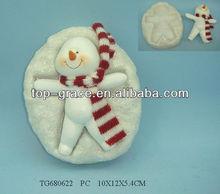 Resin christmas snowman trinket box resin Jewelry box