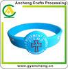 fashional debossed silicone wristband 0-24