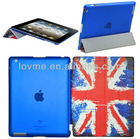 UK England Flag Pattern Smart Flip Leather Case Hybrid tpu Back Cover For New Apple iPad 3 iPad 2