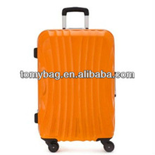 abs + pc film deep aluminum frame luggage
