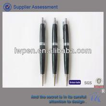 New model black metal twist ball pen for promotion