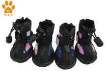 JML 2013 New Waterproof Nylon Dog Rain Boots , Waterproof Carvas Dog Rain boots, Paw protecter, xb1219,Pink color
