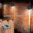 SOLAR POWERED DOOR FENCE WALL LIGHTS LED OUTDOOR GARDEN LIGHTING