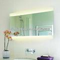 جميلة زجاج عودة مضاءة مرآة الحمام الجدار ip44 وافق ce