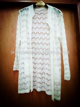 long sleeve white cardigan girl knitted wear