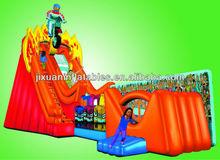 inflatable moto giant amusement slide