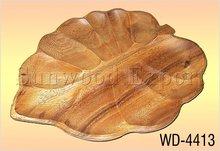 Wooden Leaf Shape Server