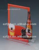 supply acrylic wine brand, transparent A4 card, meal card for the hotel