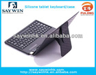 Hot selling rubber case with silicon keyboard for tablet pc