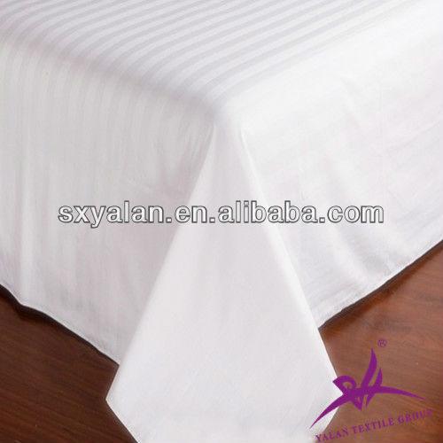100% cotton 3cm stripe bedding fabric for hotel/hotel bedding fabric