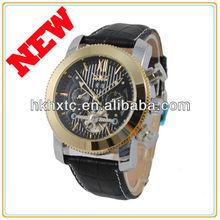 Ks Luxury Mechanical Automatic Skeleton Day Date Display Mens Wrist Watch men