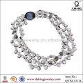 De gros bijoux en perles d'eau douce collier en cristal de poire
