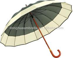 Umbrella Ribs 16K 2 color Stick Walking Manual ,Wooden Umbrella For Poland and Spain