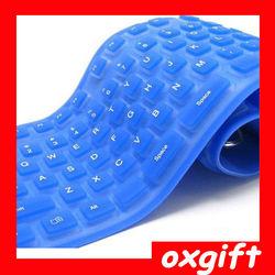 OXGIFT Waterproof foldable silicone keyboard