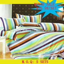 striped prints bedding flat sheet