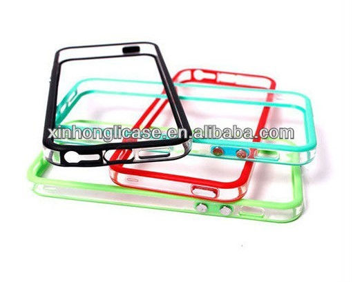 frame design bumper for iphone5,tpu bumper case for iphone 5