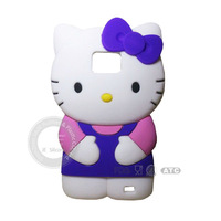 Funny hello kitty silicone mobile phone protect case