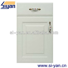 white wood kitchen cabinet plastic cover