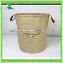 Round fabric storage basket