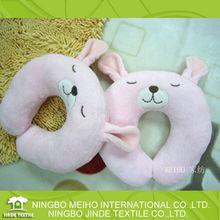 Pink Rabbit memory foam u-shaped plush children neck pillow