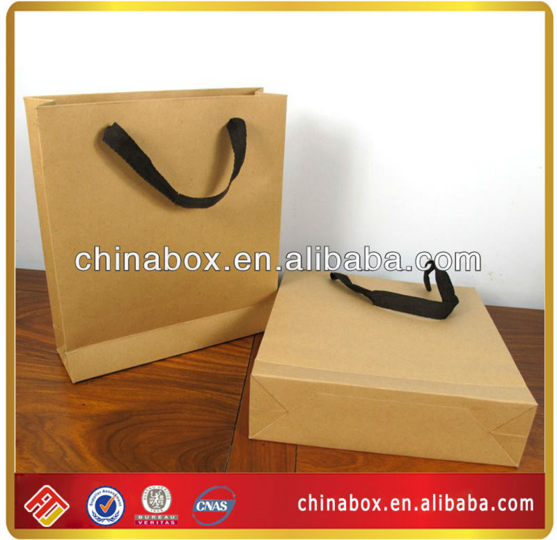 high quality kraft paper tote bag different size design