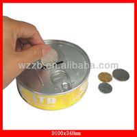 money tin can banks,coin bank, piggy bank