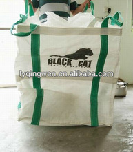 1500kg PP woven jumbo bag packing for iron powder fully lifting belt type top spout