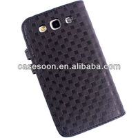 Mobile phone Leather Case for Samsung Galaxy S3 i9300 With Stand