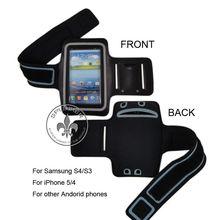 Neoprene Waterproof Samsung Galaxy S3 I9300 S4 I9500 Armband Case For Music Player MP3 Sports O8111-139